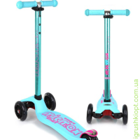 www Самокат Micmax Four Wheels Kick Scooter с текстом TPR, вырезанным на палубе